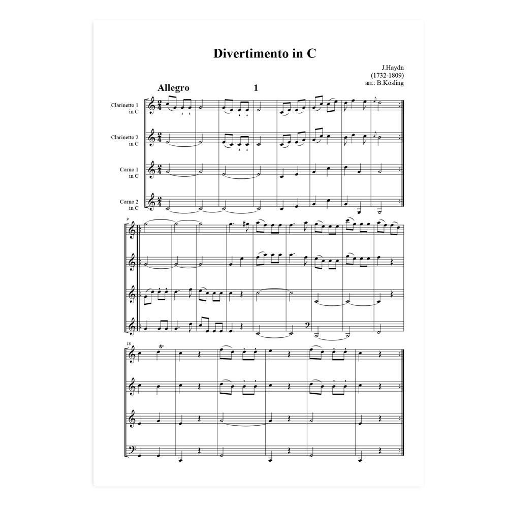 Haydn-Divertimento-C